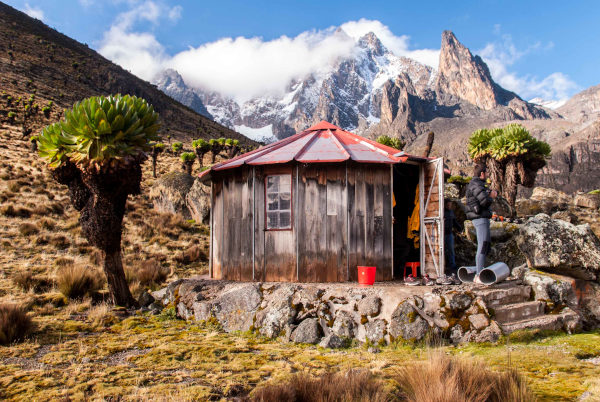 Refugio o cabaña en Monte Kenia